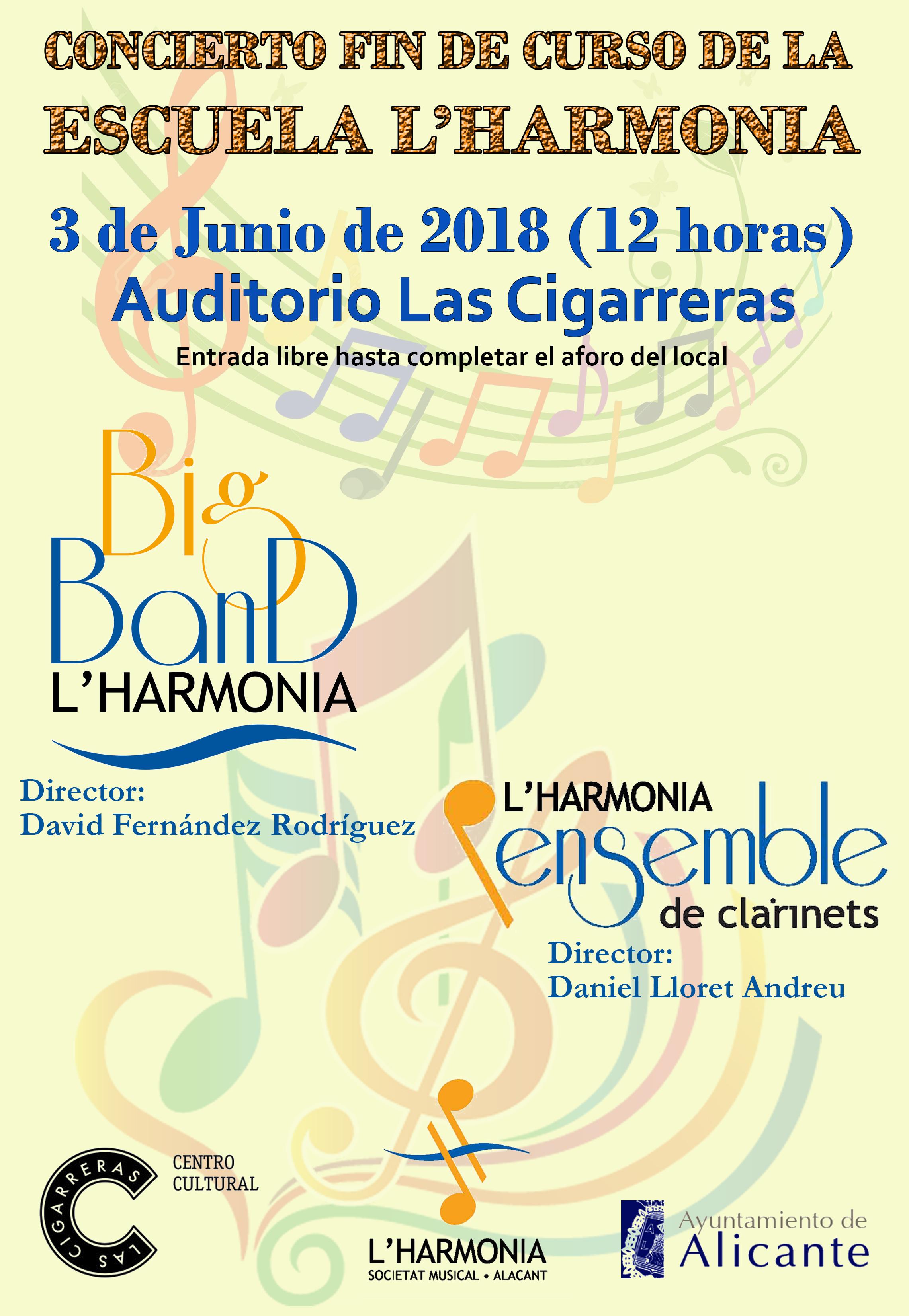 Concierto L´Harmonia fin de curso Ensemble de Clarinetes y