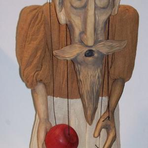 Una de las marionetas que componen la exposición en La Lonja