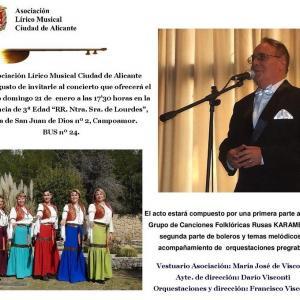 Concierto de música folclórica rusa y boleros