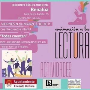 Cuenta cuentos en Benalúa para 9 de marzo