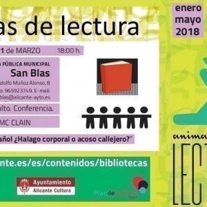 Conferencia en la biblioteca de San Blas.