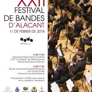 Cartel del XXII Festival de Bandas