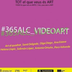 Cartel de la muestra, que empieza con video -arte y seguirá con otras manifestaciones