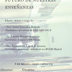 Cartel de la charla debate en el CSMA