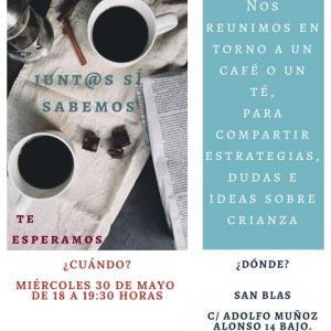 """""""Cafeteando en San Blas"""": Encuentro para compartir estrategias, dudas e ideas sobre crianza. Centro Socioeducativo San Blas"""