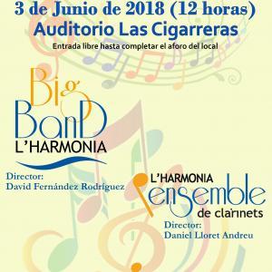 Programa Concierto fin de curso Ensemble de Clarinetes y Big Band
