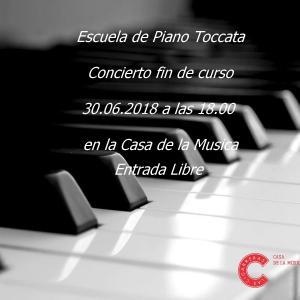 Cartel concierto fin de curso Escuela De Piano Toccata