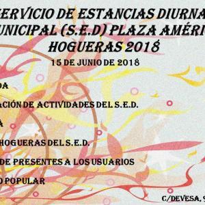 Fiesta de Hogueras del Centro de Día Municipal (SED) 15/06/2018