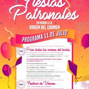 Fiestas patronales del barrio Virgen del Carmen
