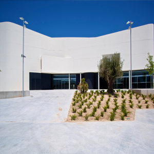 entrada principal de la facultad de educación de la universidad de alicante
