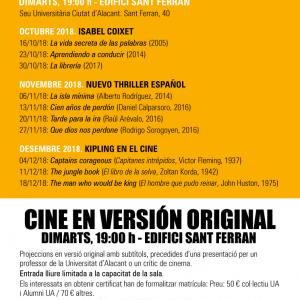 ciclo Cine en Versión Original