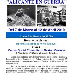 "Aula Abierta. Exposición ""Alicante en Guerra"""