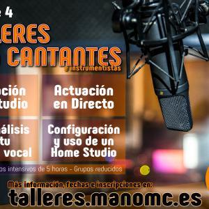 Cartel Talleres para Cantantes e Instrumentistas
