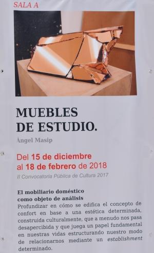 Cartel de la exposición en la sala A de la Lonja: Ángel Masip