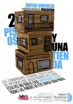 2 pisos y una tienda, de ImproVivencia. Un formato de Improvisación teatral.