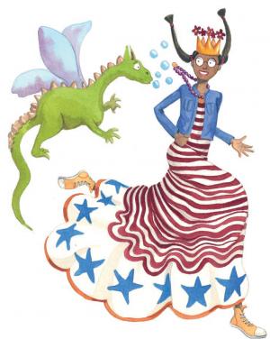 La princesa Carlota y su dragón mascota, personajes de ficción para Villafranqueza