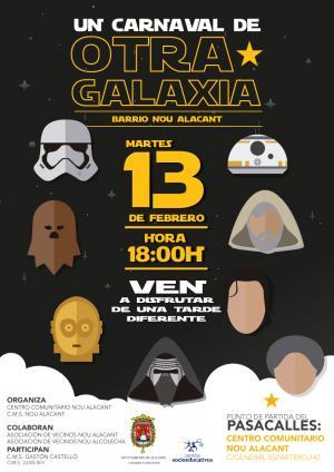 Carnaval en el Barrio Nou Alacant. Un Carnaval de otra Galaxia