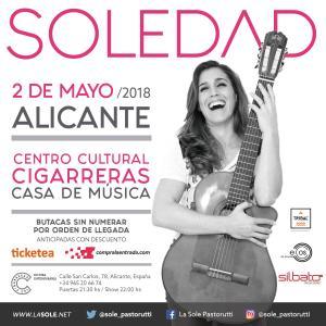 Soledad en concierto en Las Cigarreras