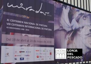 Cartel de la exposición en la Lonja