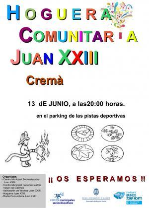 "Cremá Hoguera Comunitaria ""Juan XXIII"""