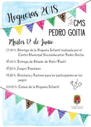 Cremà de la Hoguera Infantil. Centro Municipal Socioeducativo Pedro Goitia