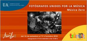 "Exposición ""Fotógrafos unidos por la música"""