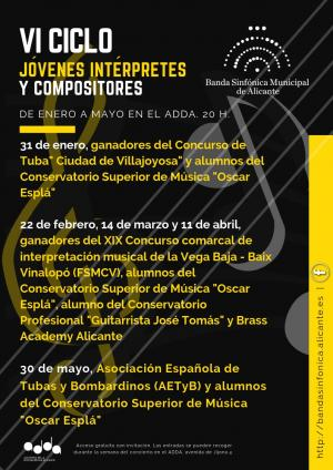 Jóvenes interpretes y compositores