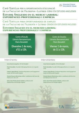Café Tertulia Grado en Estudios Ingleses