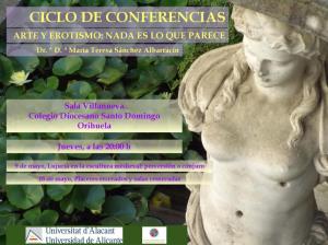 Conferencias arte y erotismo