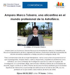 Conferència 'Amparo Marco Tobarra, una alacantina en el món professional de l'Astrofísica'